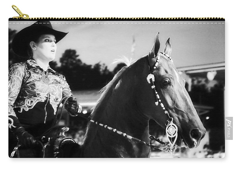 Horse Carry-all Pouch featuring the photograph In The Show Too by Alice Gipson