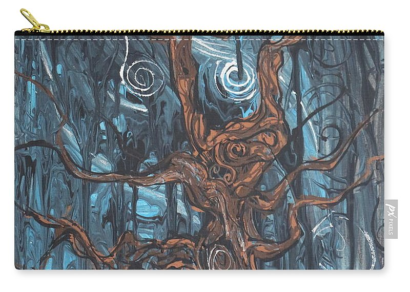 Landscape Carry-all Pouch featuring the painting In The Spook Of The Night by Stefan Duncan