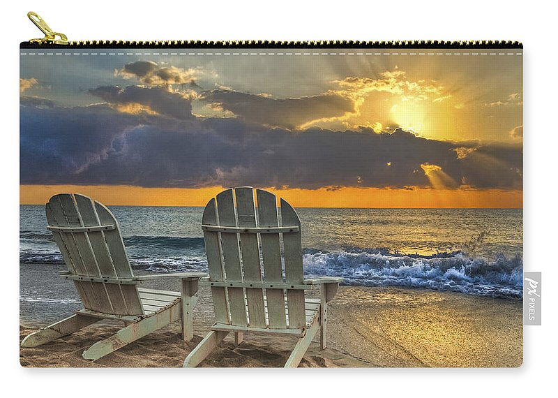 Zen Carry-all Pouch featuring the photograph In The Spotlight by Debra and Dave Vanderlaan