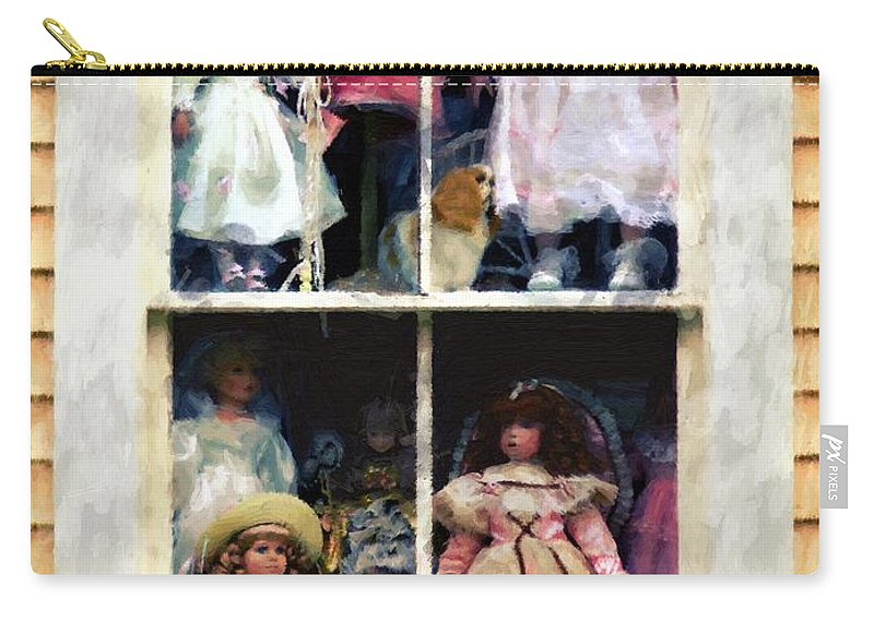 Dolls Carry-all Pouch featuring the painting In Vitro by RC DeWinter