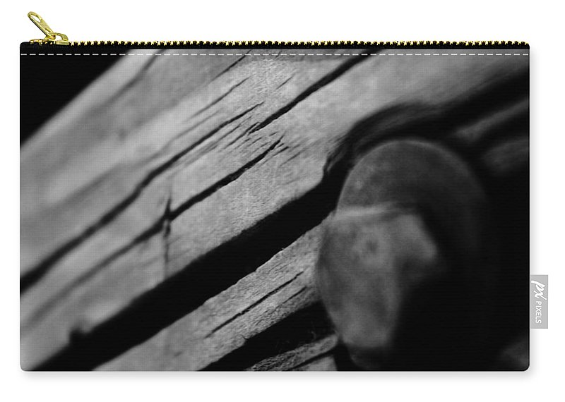 Black Carry-all Pouch featuring the photograph In Wood by Jessica Shelton