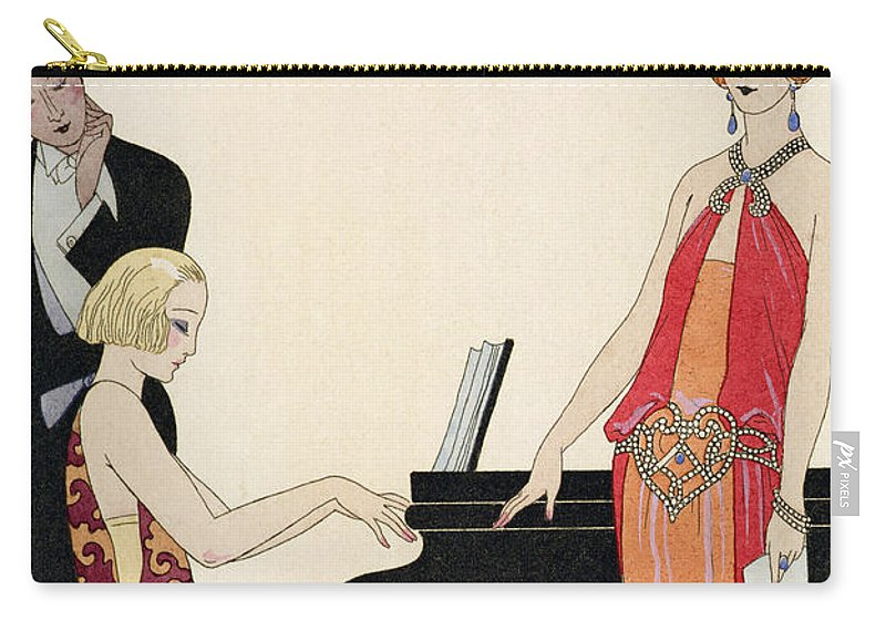 Piano Carry-all Pouch featuring the painting Incantation by Georges Barbier