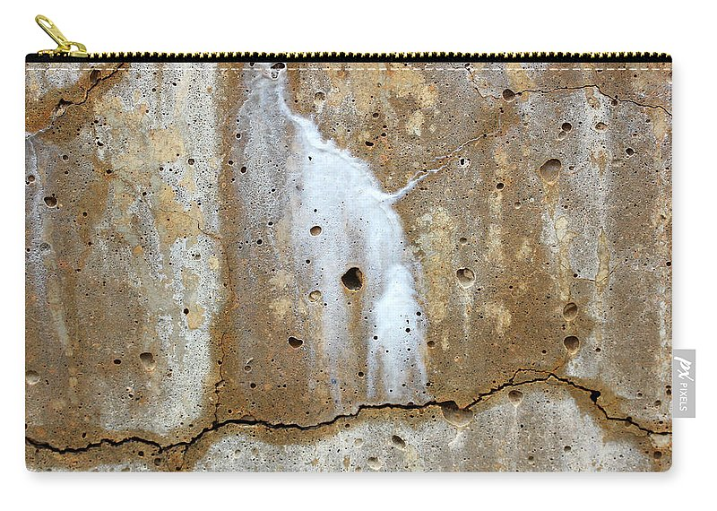 Concrete Carry-all Pouch featuring the photograph Incidental Art 7 by Mary Bedy