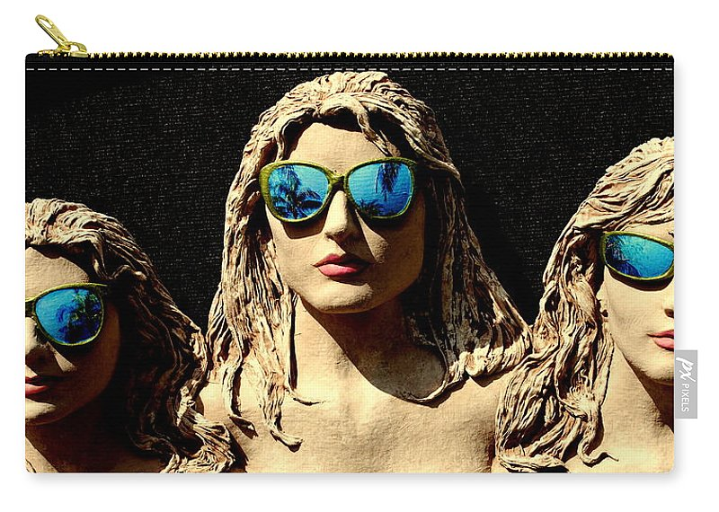 Blue Sunglasses Carry-all Pouch featuring the photograph Incognito by Roy Emmett