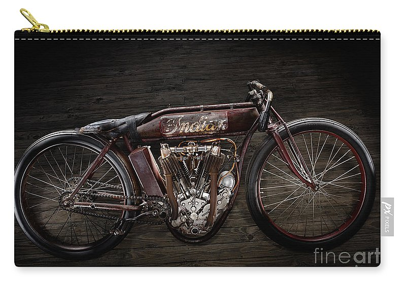 Classic Carry-all Pouch featuring the photograph Indian Board Track Racer by Frank Kletschkus