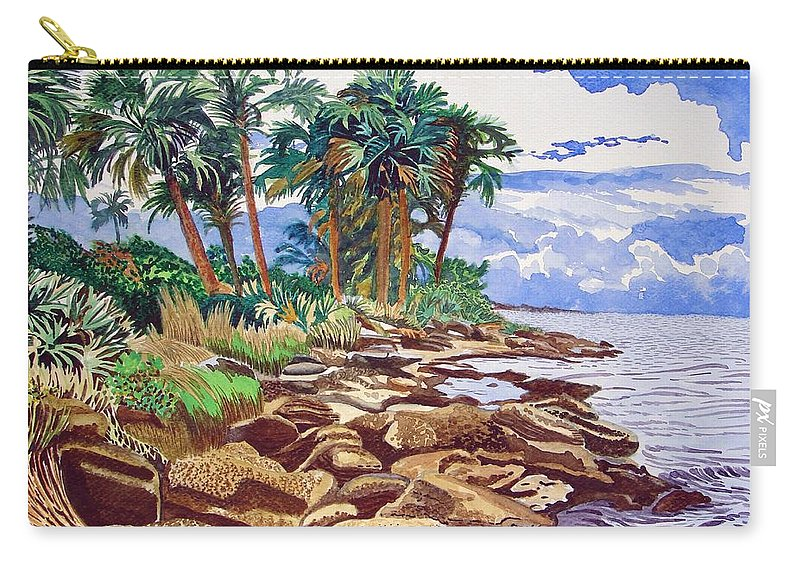 Indian River Carry-all Pouch featuring the painting Indian River Lagoon by Alan Mintz