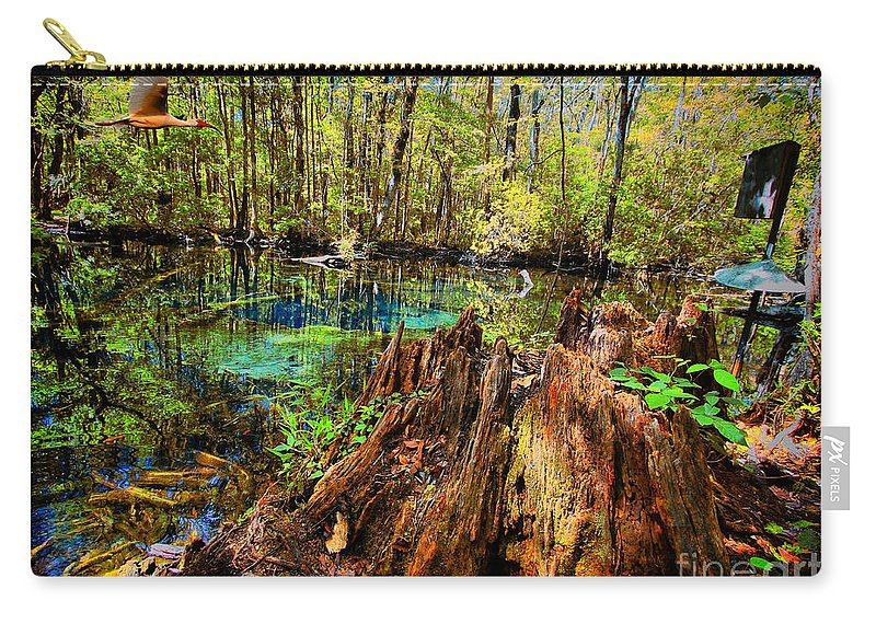 Buford Spring Carry-all Pouch featuring the digital art Indian Summer At Buford Spring by Barbara Bowen