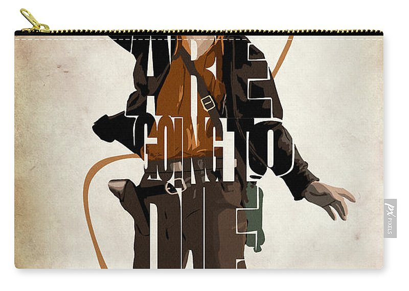 Indiana Jones Carry-all Pouch featuring the digital art Indiana Jones Vol 2 - Harrison Ford by Inspirowl Design