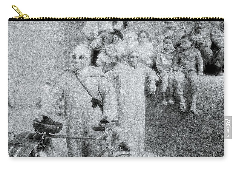 Individuality Carry-all Pouch featuring the photograph The Cyclist by Shaun Higson