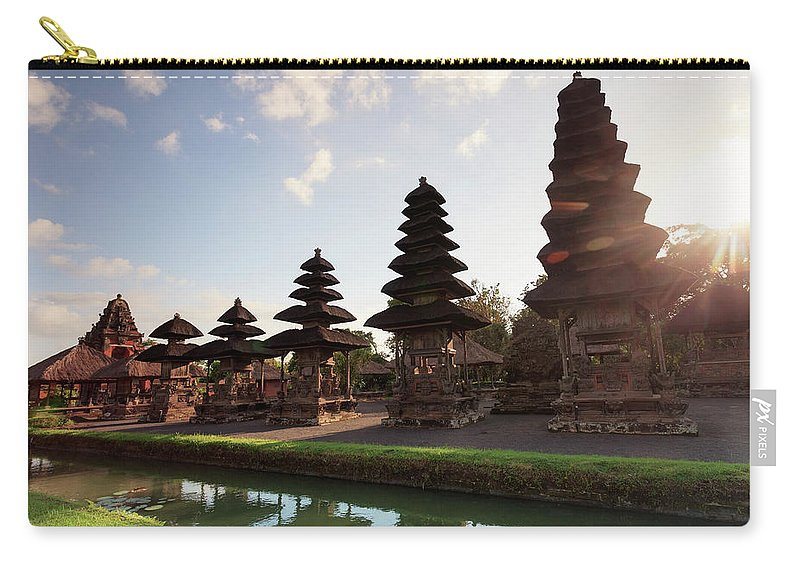 Shadow Carry-all Pouch featuring the photograph Indonesia, Bali, Taman Ayun Temple by Michele Falzone