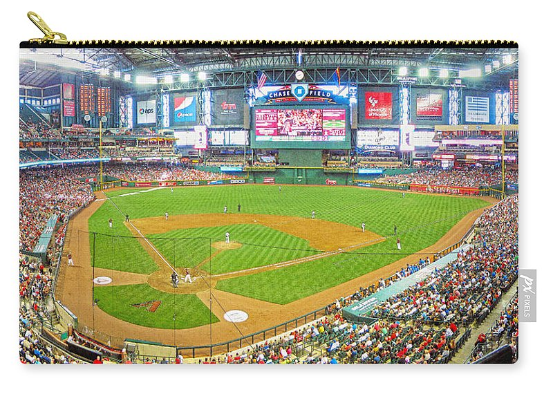 Chase Field Carry-all Pouch featuring the photograph Indoors At Chase Field by C H Apperson