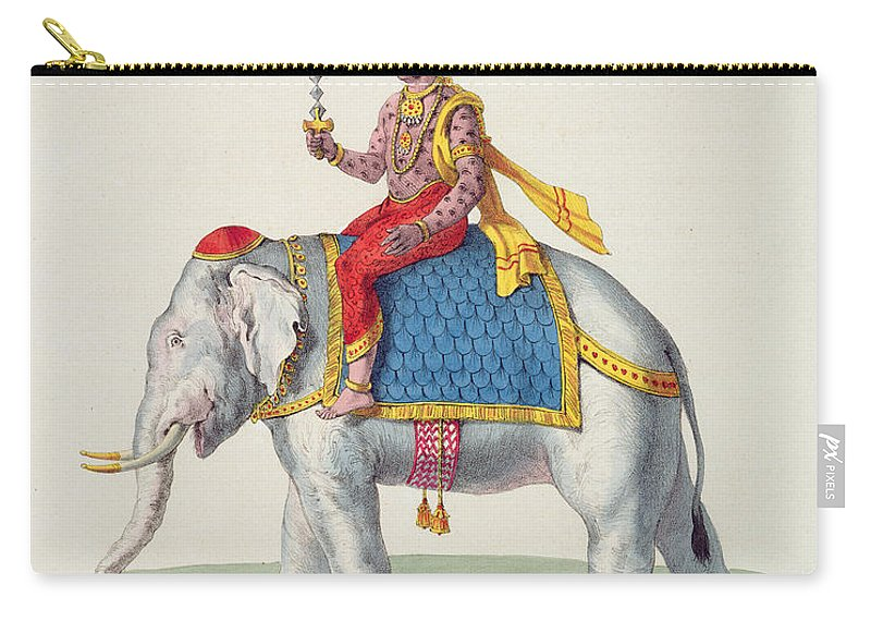 Hindu Carry-all Pouch featuring the drawing Indra Or Devendra, From Linde by French School