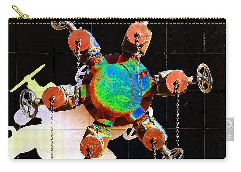 Fine Art Photography Carry-all Pouch featuring the photograph Industrial Art by David Lee Thompson