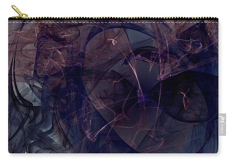 Abstract Carry-all Pouch featuring the digital art Industrial Genetic Engineering by Jeff Iverson