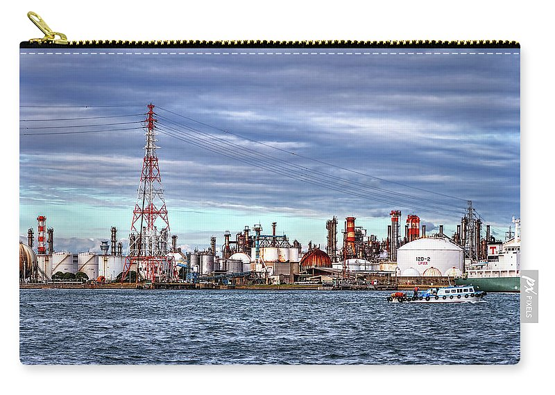 Manufacturing Equipment Carry-all Pouch featuring the photograph Industrial View by Uemii