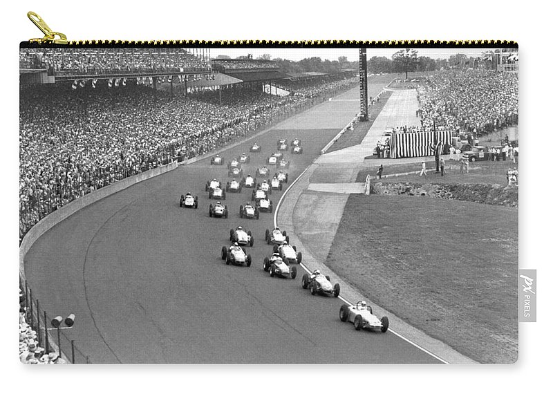 1950's Carry-all Pouch featuring the photograph Indy 500 Race Start by Underwood Archives