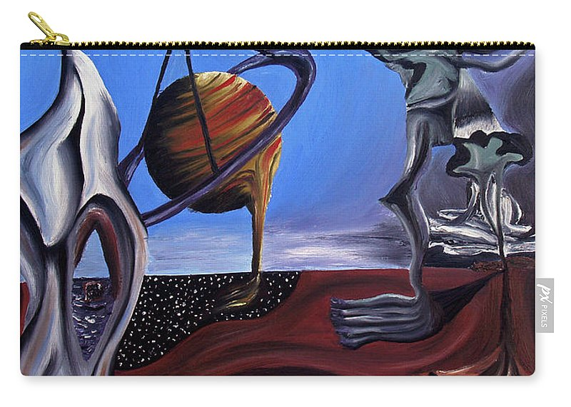 Abstract Carry-all Pouch featuring the painting Infatuasilaphrene by Ryan Demaree