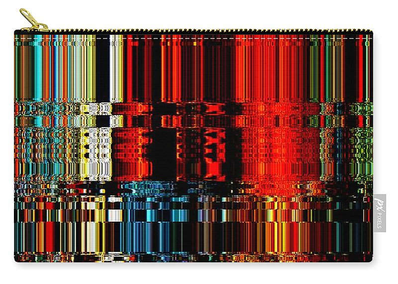 Modern Art Design Digital Image Carry-all Pouch featuring the photograph Infinity Chandelier 1 by Cj Carroll