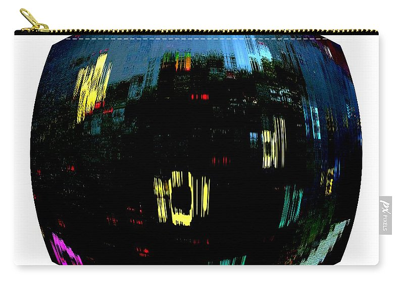 Modern Art Digital Image Carry-all Pouch featuring the photograph Infinity Cityscape 1 by Cj Carroll