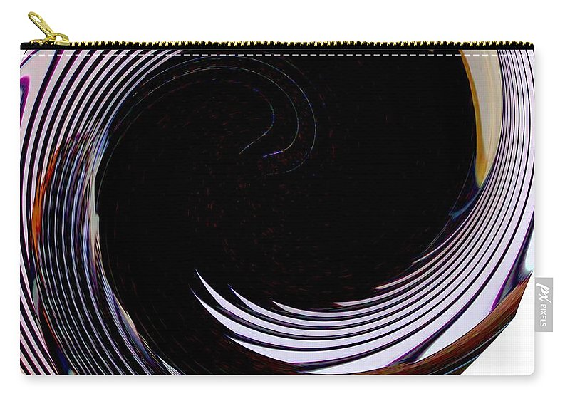 Modern Art Carry-all Pouch featuring the photograph Infinity Feathers 1 by Cj Carroll