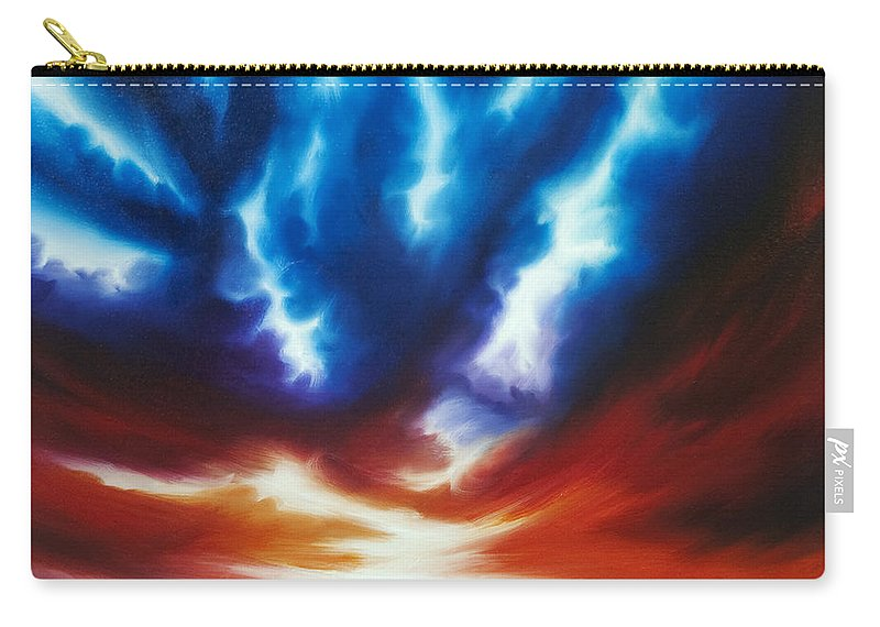 Copyright 2014 - James Christopher Hill Carry-all Pouch featuring the painting Infinity by James Christopher Hill