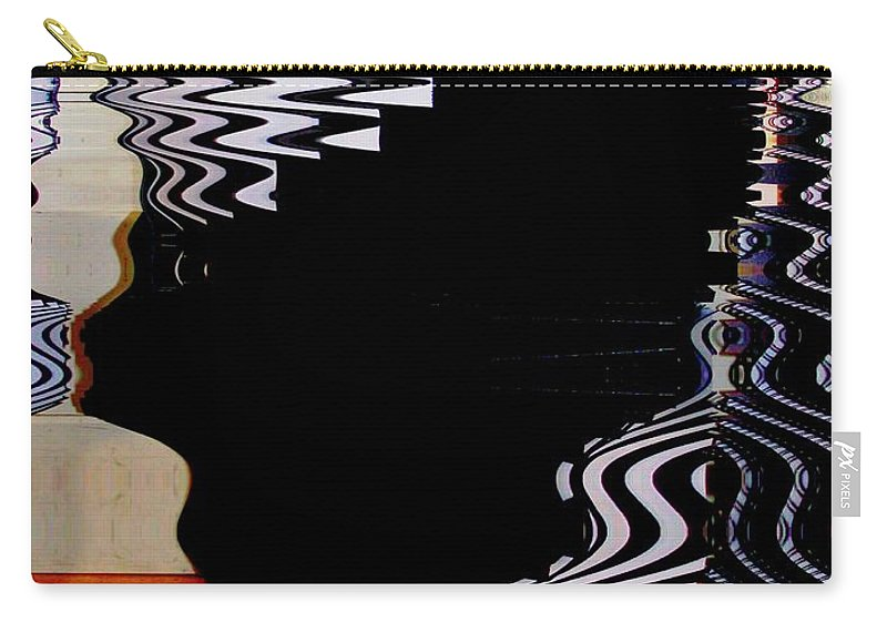 Modern Art Carry-all Pouch featuring the photograph Infinity Kiss 1 by Cj Carroll