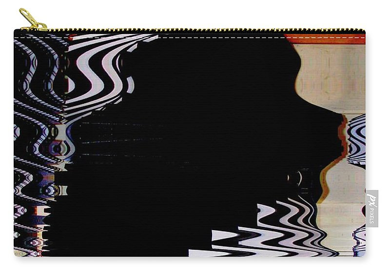 Modern Art Carry-all Pouch featuring the photograph Infinity Kiss 2 by Cj Carroll