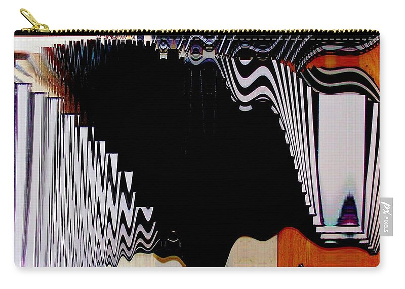 Modern Art Carry-all Pouch featuring the photograph Infinity Kiss Horizontal 2 by Cj Carroll