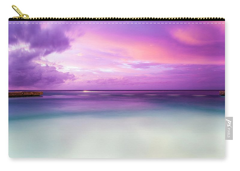Scenics Carry-all Pouch featuring the photograph Infinity Pool, Uluwatu, Bali by John Harper