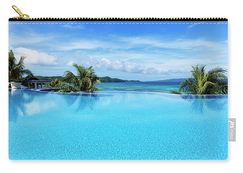 Scenics Carry-all Pouch featuring the photograph Infinity Swimming Pool by 35007