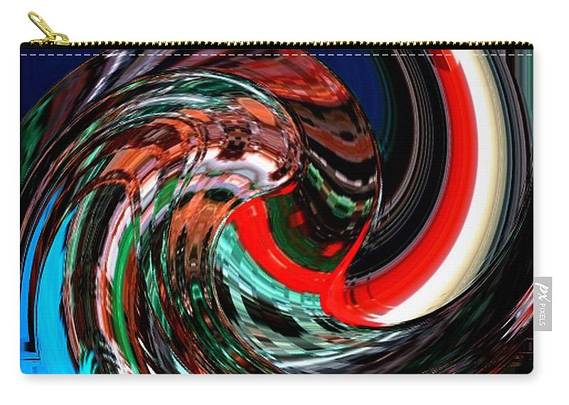 Modern Art Carry-all Pouch featuring the photograph Infinity Water Sprite 1 by Cj Carroll