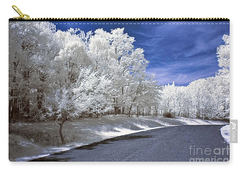 Landscape Carry-all Pouch featuring the photograph Infrared Road by Anthony Sacco