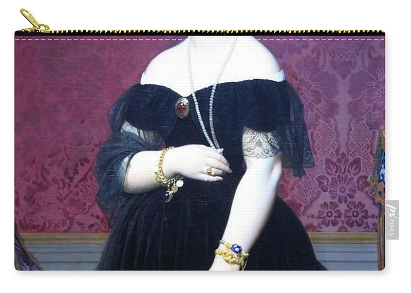 Madame Moitessier Carry-all Pouch featuring the photograph Ingres' Madame Moitessier by Cora Wandel