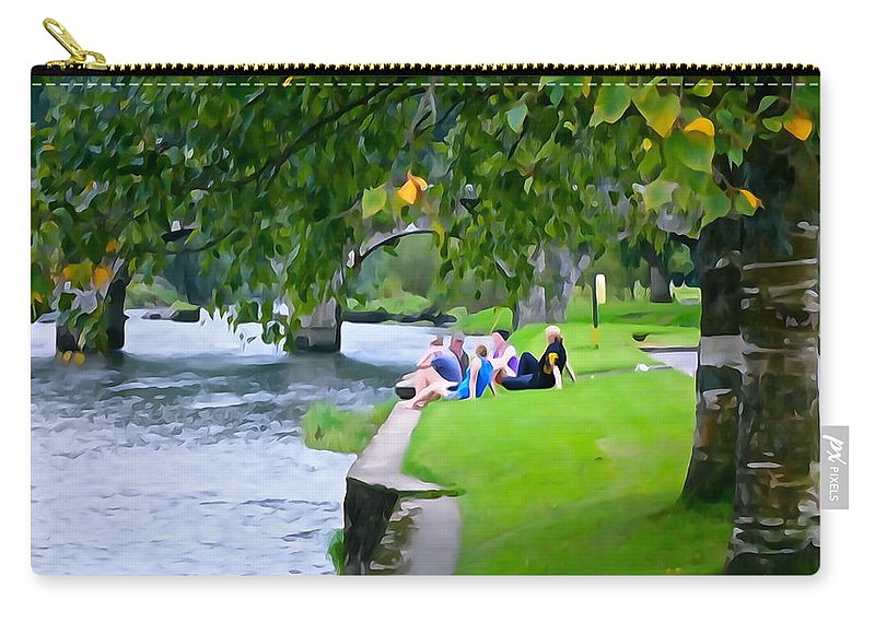 Inistioge Carry-all Pouch featuring the photograph Inistioge Friends by Charlie and Norma Brock