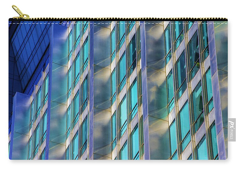 Carry-all Pouch featuring the photograph Inland Steel Building by Raymond Kunst