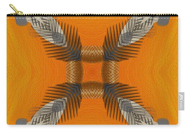 Digital Art Carry-all Pouch featuring the digital art Inner Chi by Deborah Benoit