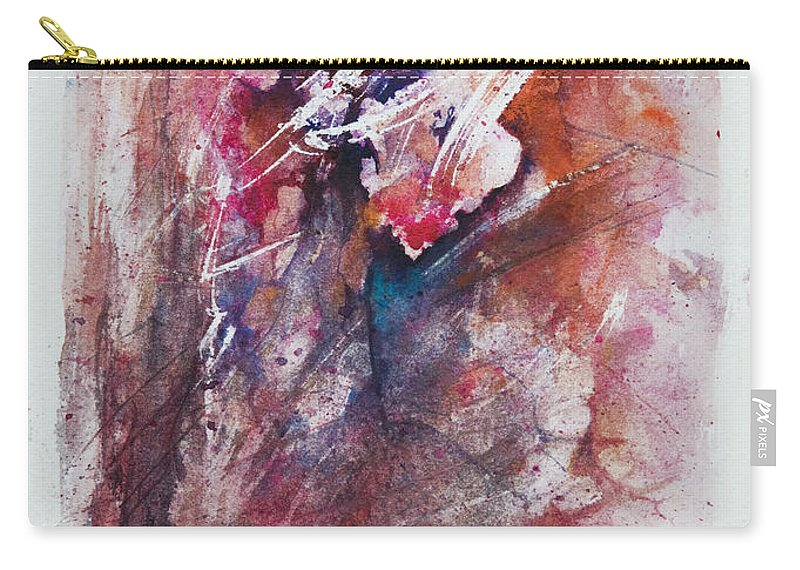 Abstract Carry-all Pouch featuring the painting Inner Conflict by Rachel Christine Nowicki