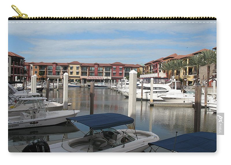 Buildings Carry-all Pouch featuring the photograph Inner Harbor - Naples by Christiane Schulze Art And Photography
