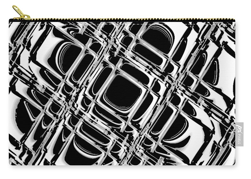 Black And White Carry-all Pouch featuring the digital art Inner Workings by Pharris Art