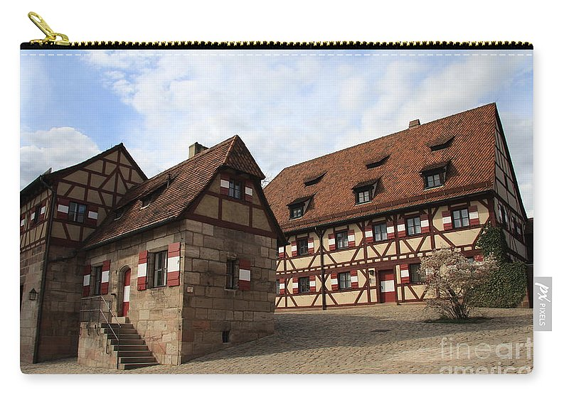 Inneryard Carry-all Pouch featuring the photograph Inneryard Kaiserburg - Nuremberg by Christiane Schulze Art And Photography
