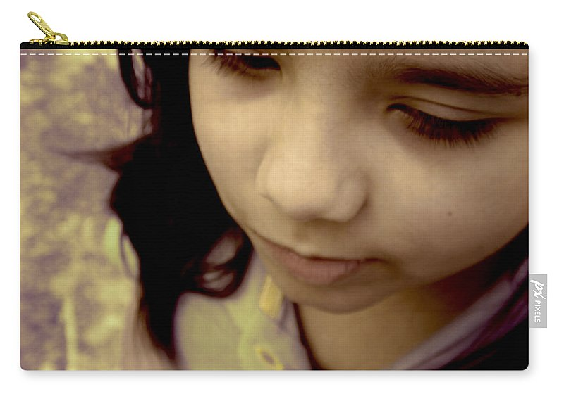 Innocent Carry-all Pouch featuring the photograph Innocence by Paulo Guimaraes