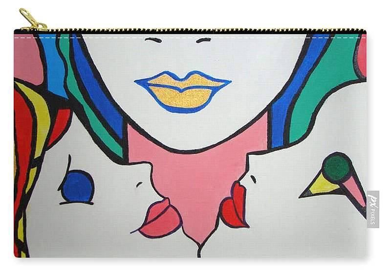 Pop-art Carry-all Pouch featuring the painting Innocence by Silvana Abel