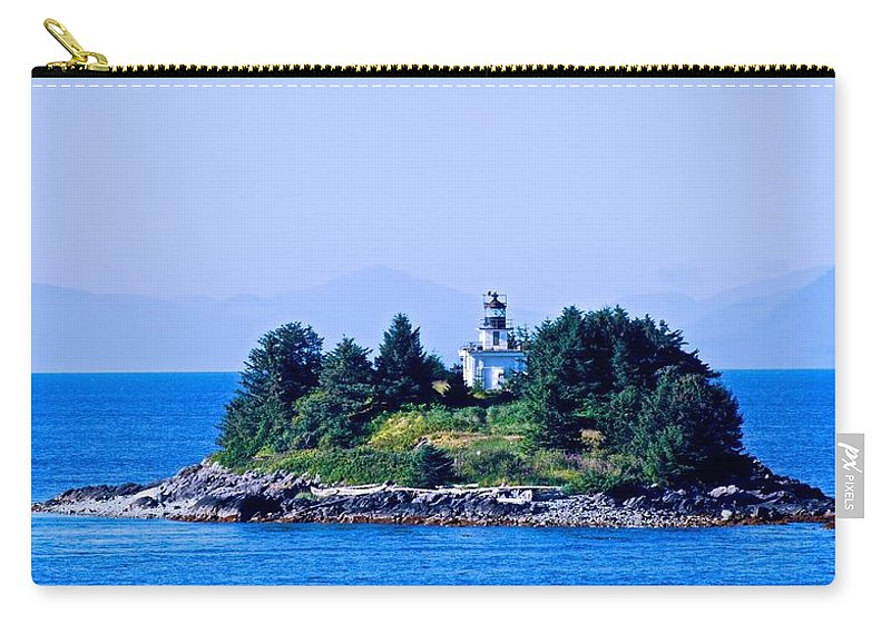 Lighthouse Carry-all Pouch featuring the photograph Inside Passage Light by Eric Tressler