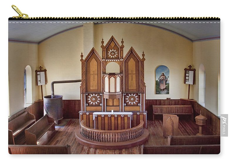 Altar Carry-all Pouch featuring the photograph Inside St Olaf Lutheran Church by David and Carol Kelly