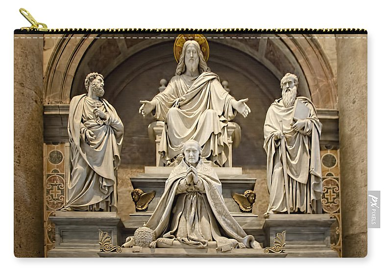 St Peters Carry-all Pouch featuring the photograph Inside St Peters Basiclica - Vatican Rome by Jon Berghoff