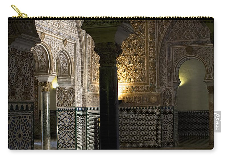 Seville Carry-all Pouch featuring the photograph Inside The Alcazar Of Seville by Lorraine Devon Wilke
