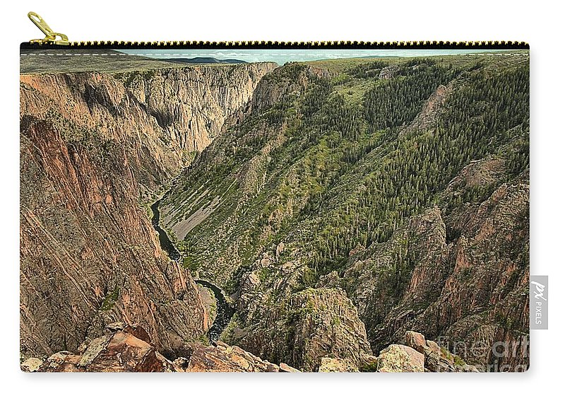 Black Canyon Carry-all Pouch featuring the photograph Inside The Black Canyon by Adam Jewell