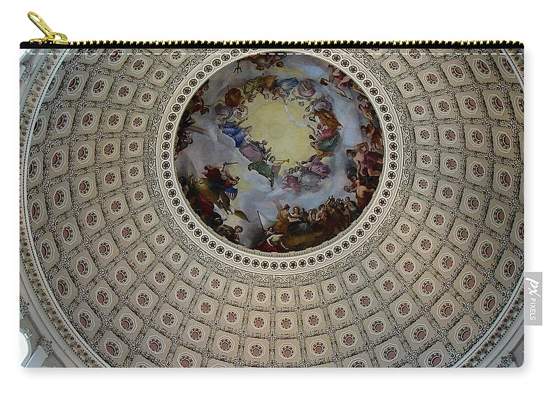 Capitol Carry-all Pouch featuring the photograph Inside The Capitol Dome by Lois Ivancin Tavaf