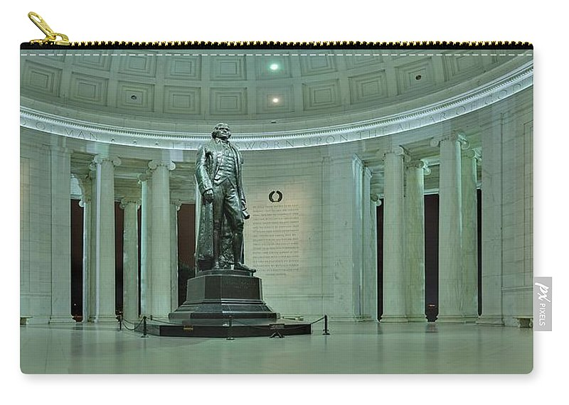 Metro Carry-all Pouch featuring the photograph Inside The Jefferson Memorial by Metro DC Photography