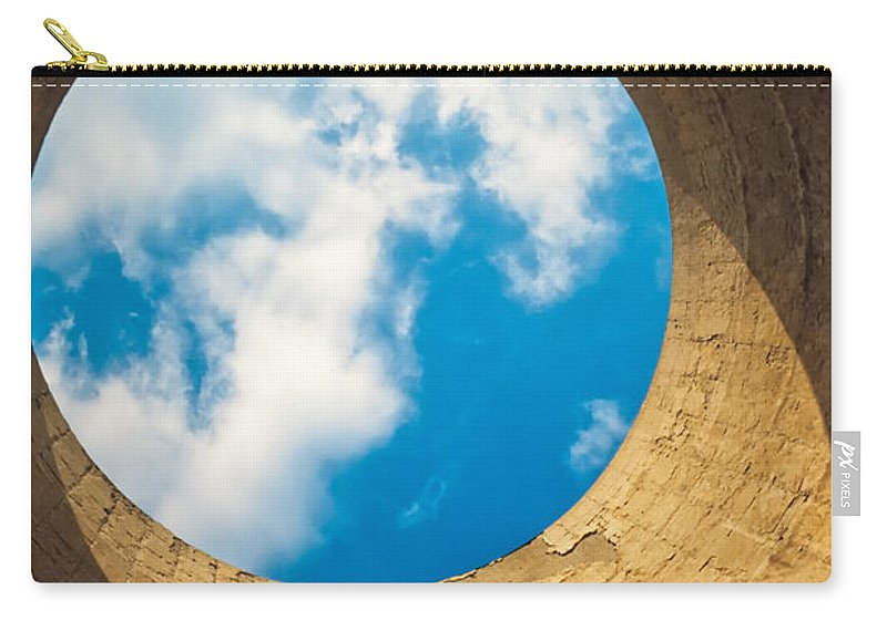 Abandoned Carry-all Pouch featuring the photograph Inside View Of Cooling Tower by Stephan Pietzko